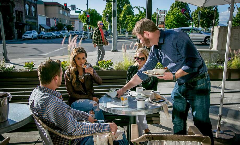 The patio at Basalt in Napa. Photo: John Storey, Special To The Chronicle