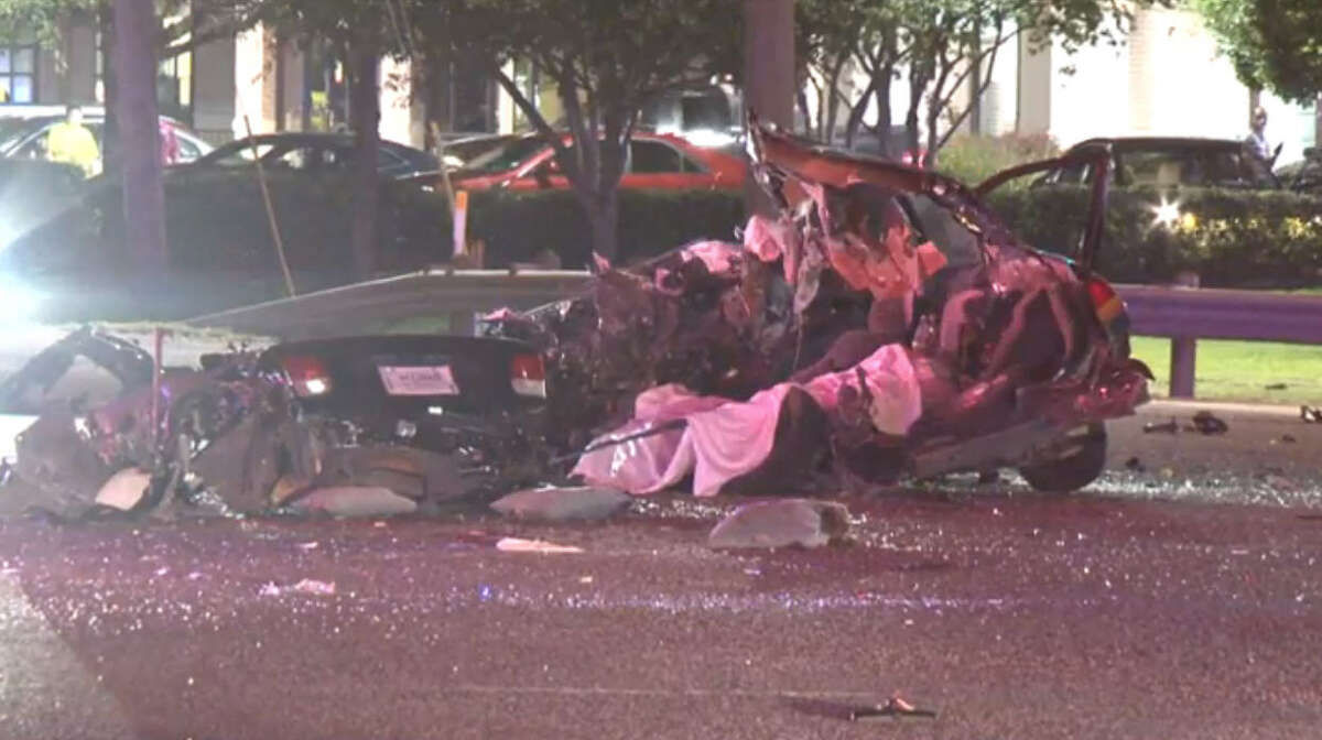 Three people were killed when an alleged drunk driver driver ran a red light shortly after midnight in north Houston, authorities said.