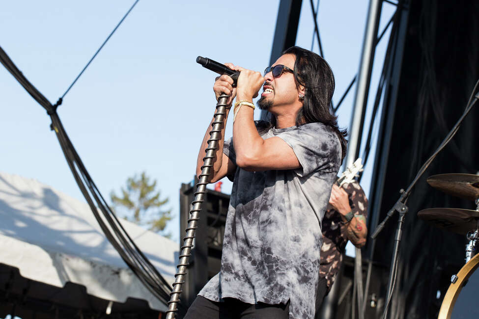 Pop Evil perform on Day 1 of Rock'n Derby at the Schaghticoke Fairgrounds outside Albany, N.Y., on Friday, May 20, 2016.