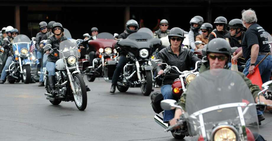 Motorcycle riders roll out for the annual 100-mile ride with Bikers Against Child Abuse on Saturday, May 21, 2016, at Brunswick Harley Davidson in Brunswick, N.Y. (Cindy Schultz / Times Union) Photo: Cindy Schultz / Albany Times Union