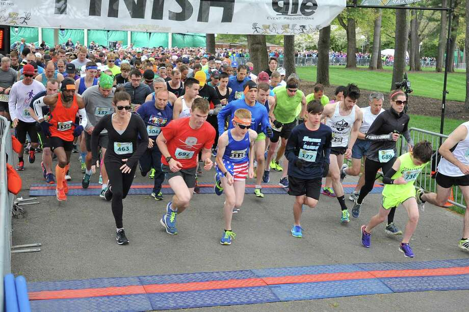 About 1,600 runners participated in Rock&Run in Saratoga Springs to support SPAC's Vivienne Anderson children's program, an arts education program bringing over 300 underserved kids to New York City Ballet at SPAC this summer. (Patric Hendrick)