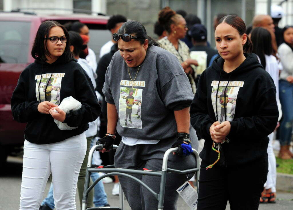 A Funeral For Shooting Victim KahLil Sloan Diaz Is Held At Calvary Temple