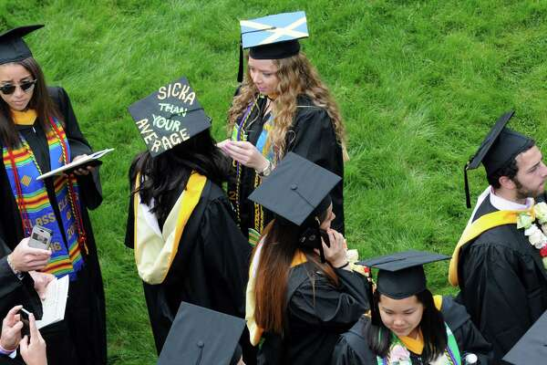Skidmore College held it's 105th Commencement at SPAC on Saturday May 21, 2016 in Saratoga Springs, N.Y. (Michael P. Farrell/Times Union)