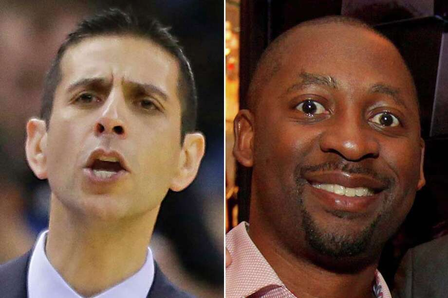 Spurs assistant James Borrego (left) and Magic assistant Adrian Griffin will become the latest candidates to interview for the Rockets' head-coaching job.Click through the gallery to see other likely candidates for the post.