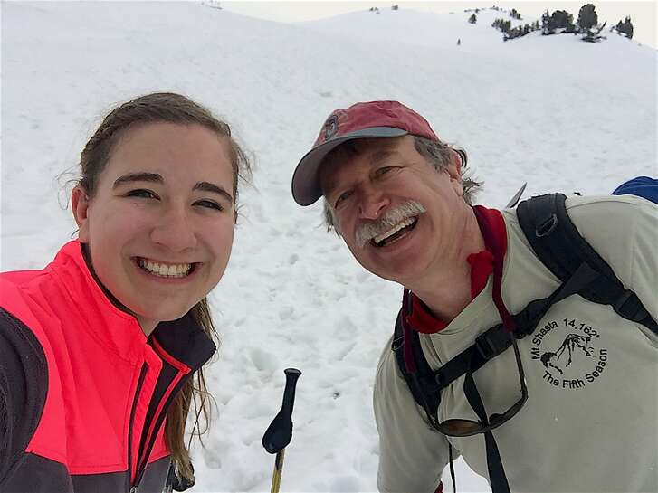 Kirstyn, 18, and dad, Lynn, Teuscher survived getting caught in an electrical field during a thunderstorm on Mount Shasta