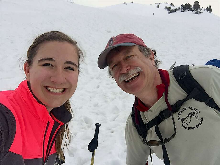 Kirstyn, 18, and dad, Lynn, Teuscher survived getting caught in an electrical field during a thunderstorm on Mount Shasta Photo: Courtesy Kirstyn Teuscher / Special To The Chronicle