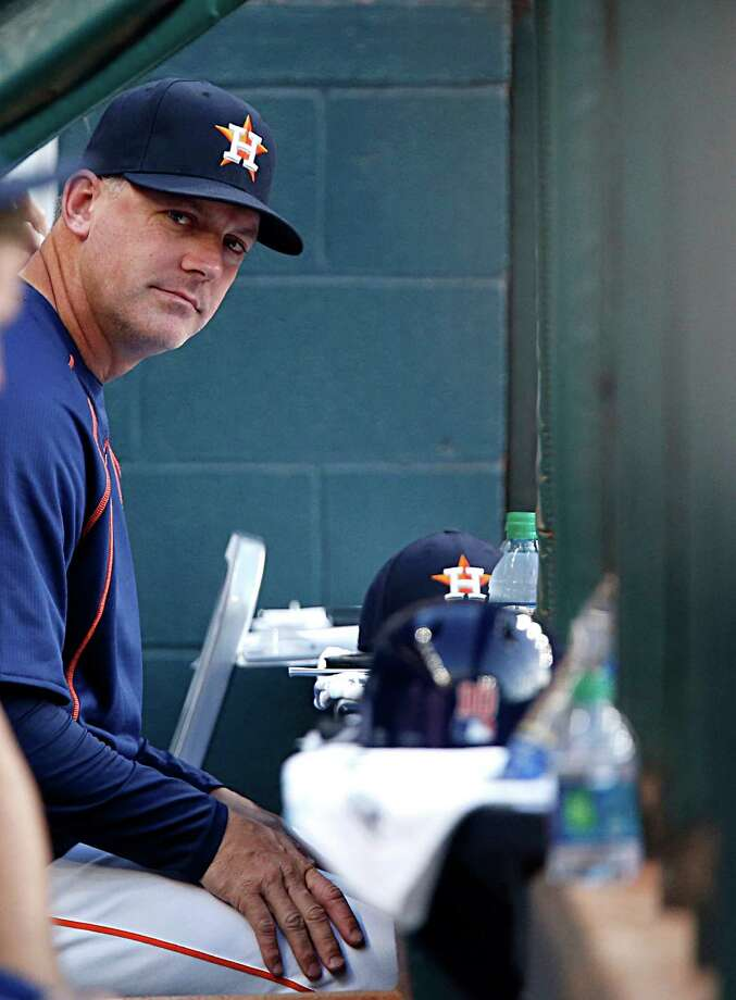 """We have to find a new approach against them,"" the Astros manager said about his team's struggles against the Rangers. Photo: James Nielsen, Staff / © 2016  Houston Chronicle"