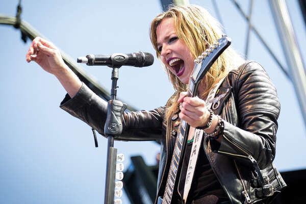 Halestorm perform on Day 2 of Rock'n Derby at the Schaghticoke Fairgrounds outside Albany, N.Y., on Saturday, May 21, 2016.