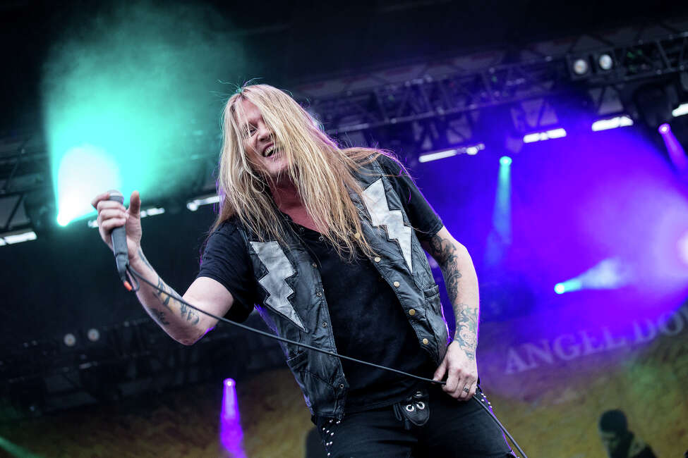 Sebastian Bach performs on Day 2 of Rock'n Derby at the Schaghticoke Fairgrounds outside Albany, N.Y., on Saturday, May 21, 2016.