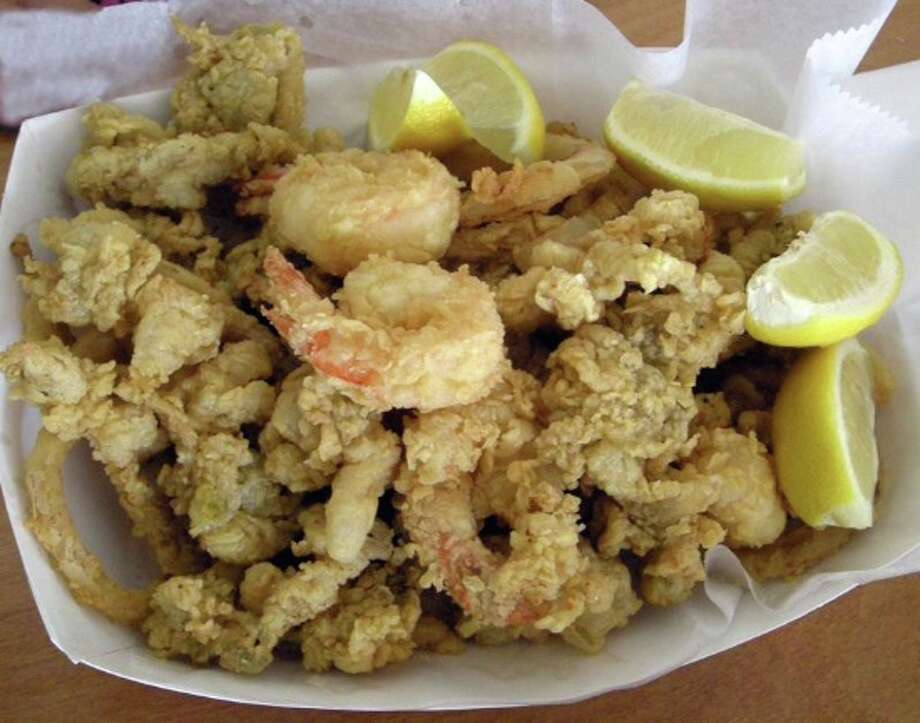 Westfair offers a traditional array of clambake items as well as side items such as skewered beef and chicken, baked stuffed clams, Caesar salad, sausage and peppers and Maryland crab cakes.