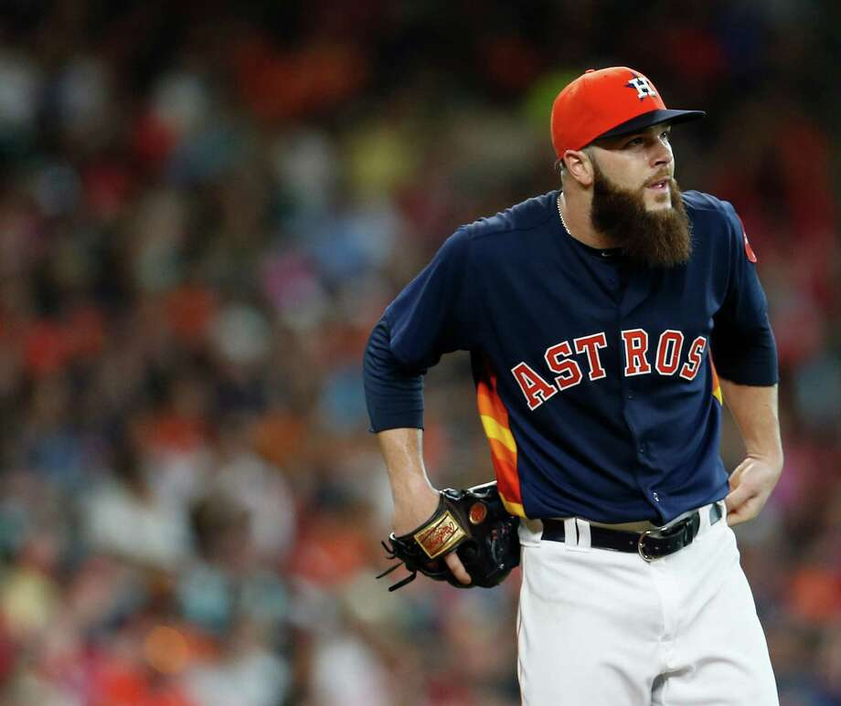 Astros lefthander Dallas Keuchel has struggled so far after winning the American League Cy Young Award last season.Click through the gallery to see other Cy Young Award winners whose numbers dipped the following season. Photo: Karen Warren, Houston Chronicle / © 2016 Houston Chronicle