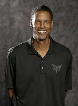 Charlotte Hornets assistant coach Stephen Silas poses for a photo during the NBA basketball team's media day in Charlotte, N.C., Friday, Sept. 25, 2015 . (AP Photo/Chuck Burton)