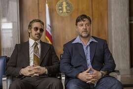 "Russel Crowe and Ryan Gosling in ""The Nice Guys."" Warner Bros. Entertainmen"