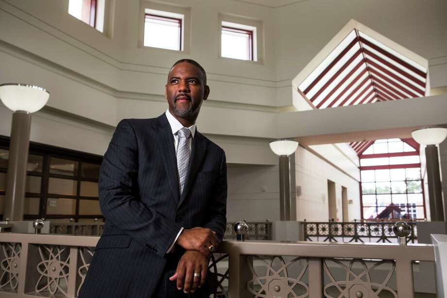 """Austin Lane says being able to bring people back to campus is the """"capstone"""" to the historically black college experience. """"It's being able to bring familes - generations - back to campus,"""" TSU's new president says. Photo: Brett Coomer, Staff / © 2016 Houston Chronicle"""