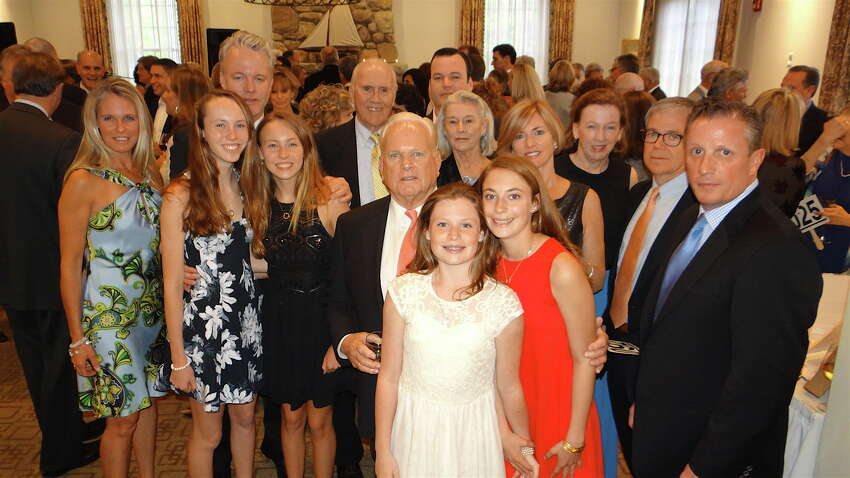 The Redgate Family at the 15th Annual Evening of Hope Gala on May 19, 2016 at The Patterson Club in Fairfield. Operation Hope works to end homelessness and hunger in the community. The evening honored people who have helped the cause. The honorees were: the owners of Harry's Wine and Liquor Market, Ellen Redgate (posthumously) and Alex Currie of a little square and the Pink Pom-Pom Project.