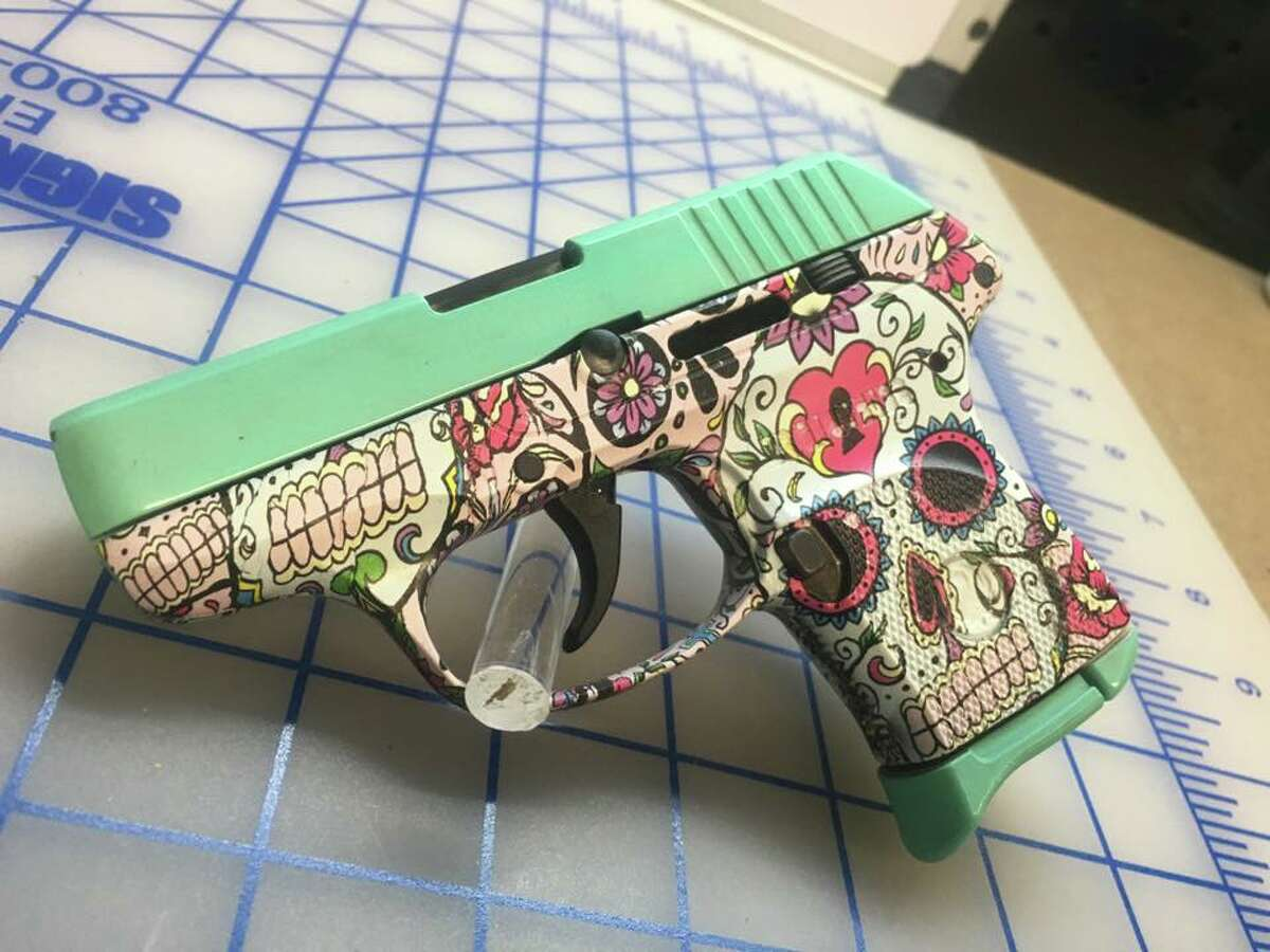 A shop in Texarkana has been making fans on social media for the unique coating system it utilizes to adorn handguns with custom designs. On its official site, Hydrographics of Texas touts pistols with camo, sugar skull designs and even one for Dallas Cowboys fans.
