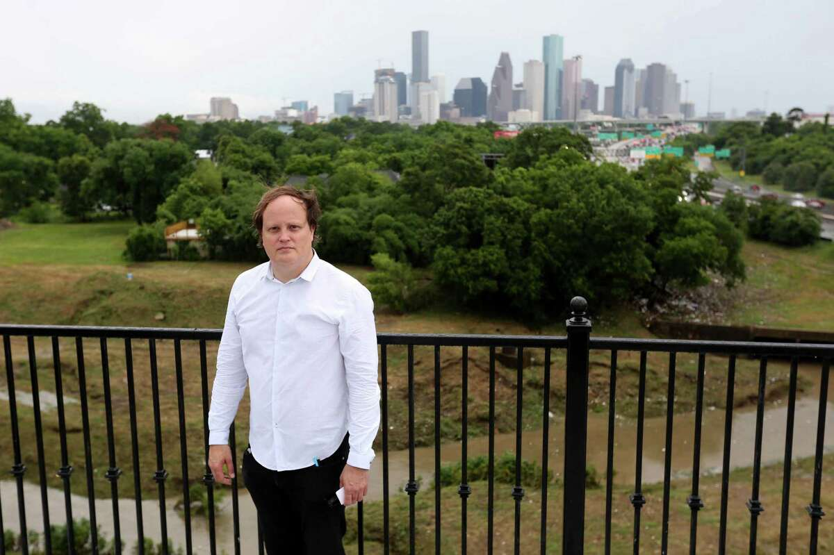 Architect Troy Schaum, of Schaum/Shieh, on top of Raven Tower, at White Oak Music Hall, just north of Houston's downtown at 2915 N. Main and North Street, Saturday, May 21, 2016, in Houston, Texas.
