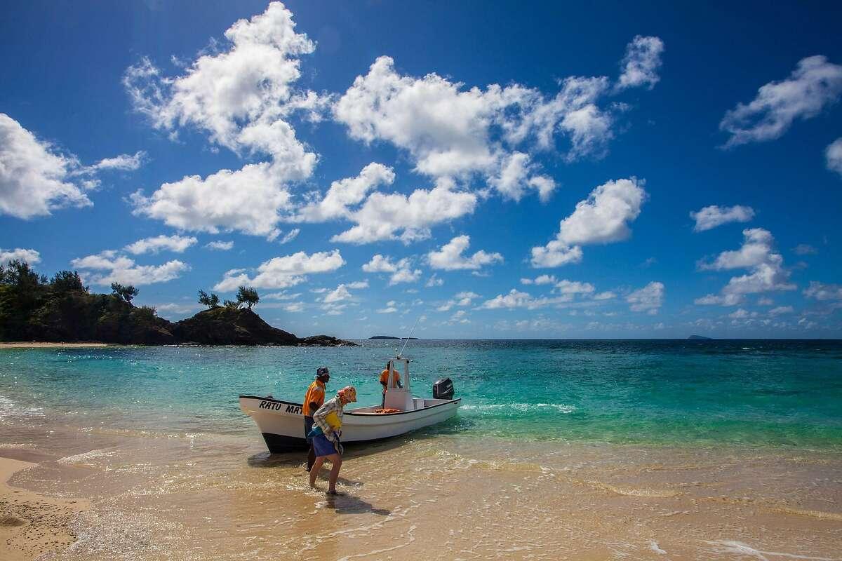 Landing on uninhabited Yawini Island's perfect beach near Yasawa Island Resort, Fiji. (Steve Haggerty/Color World/MCT)