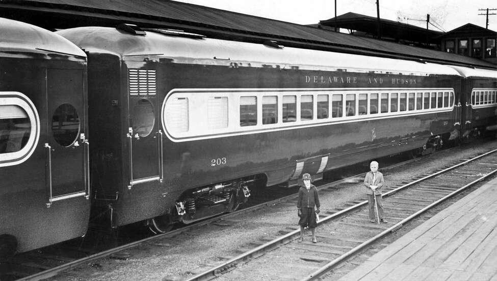 Delaware & Hudson Train, Albany. Taken November 14, 1939. (Times Union Archive)