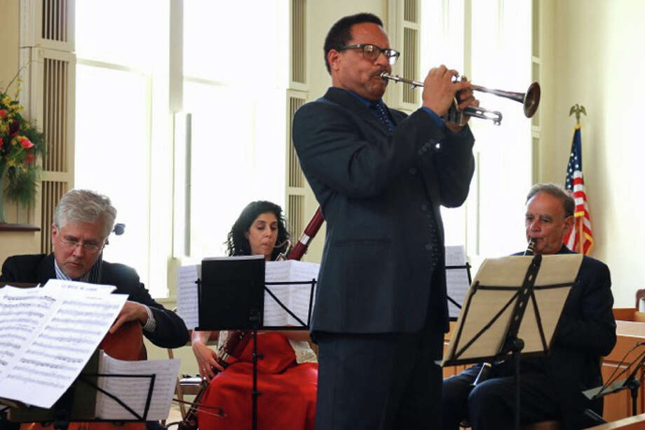 "Trumpeter Wayne duMaine is returning to Greenwich as a star act in the annual fund-raiser hosted by the Chamber Players of the Greenwich Symphony, the ""Spring Musicale""  at 5 p.m. June 12  in the auditorium of Audubon Greenwich, 613 Riversville Road.  DuMaine performed with the Chamber Players in their April concerts. He will play pieces by Fasch, Gershwin and Martinu. For the Gershwin, du Maine  plays both the trumpet and piano at the same time.  Seven Chamber Players will also be on hand with short selectionsto preview thr 45th season. A festive champagne buffet will follow. If the weather is good,  guests will be able to enjoy the beautiful outdoor terrace. Invitations have been mailed already, but subject to availability, reservations can be made by calling 203-637-4725. Tickets start at $100. Photo: Contributed / Contributed Photo / Greenwich Time Contributed"