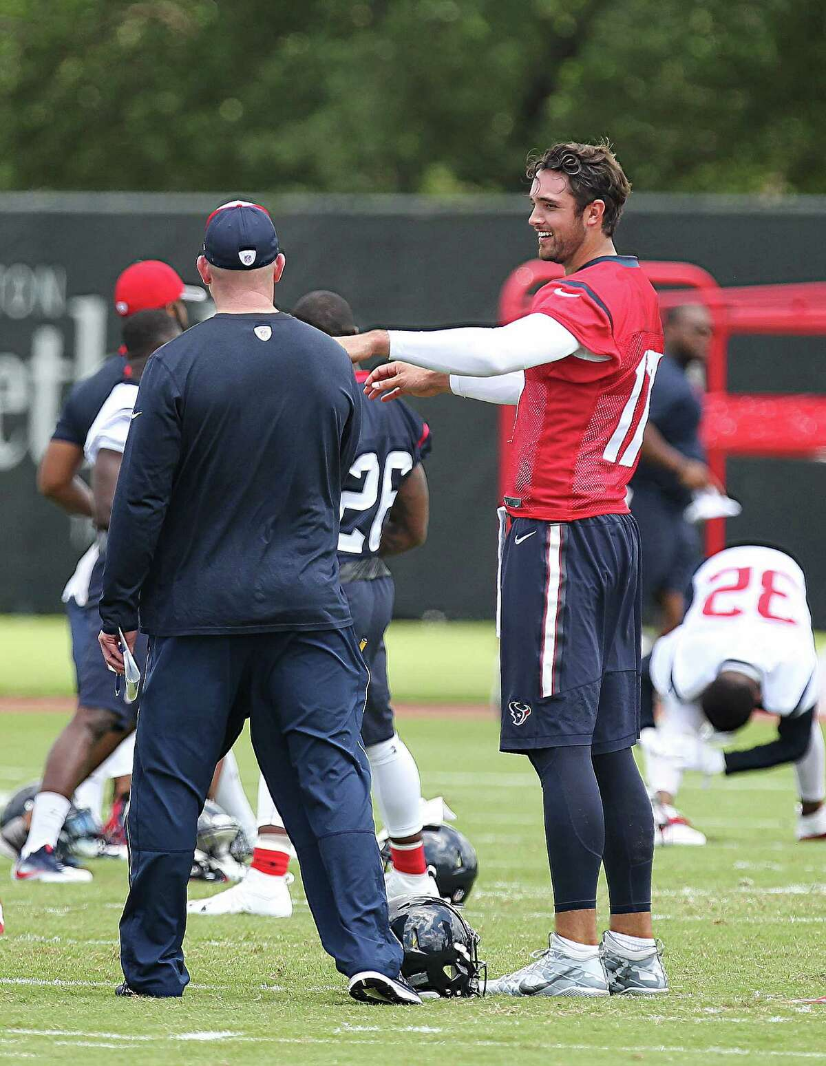 Texans Quarterback Brock Osweiler participates in the first day of OTAs Monday, May 23, 2016, in Houston.