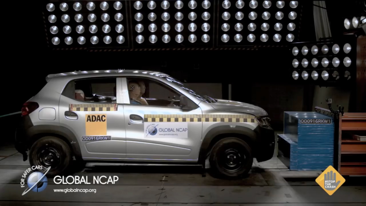 Results of zero-star crash tests on the Renault Kwid
