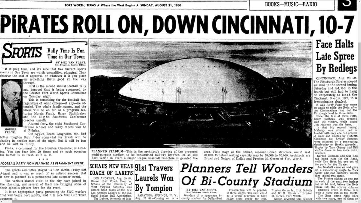 News of the domed stadium was a front page highlight in the summer of 1960.