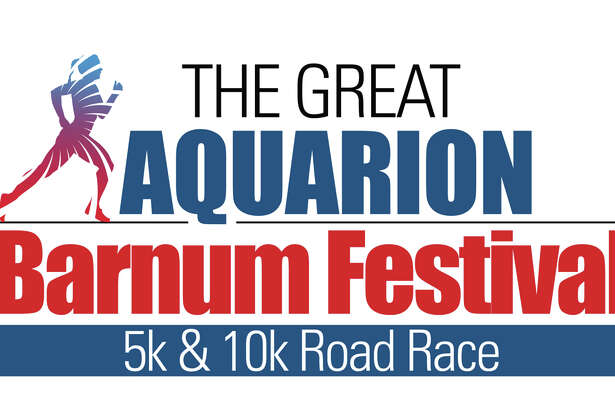 A poster promotes The Great Aquarion Barnum Festival Road Race, Sunday, May 29, in Bridgeport's Seaside Park.