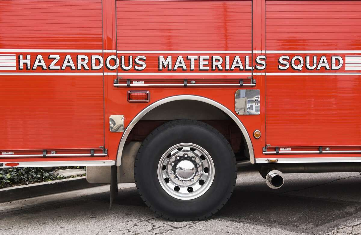 File photo of hazardous materials emergency vehicle. Hazardous Materials Squad truck