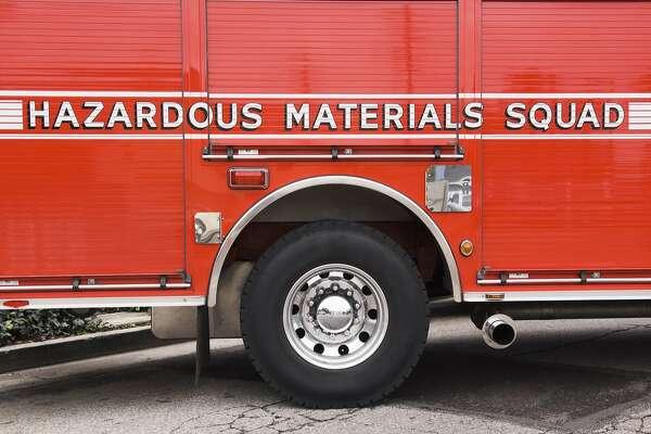 File photo of hazardous materials emergency vehicle. Hazardous Materials Squad truck