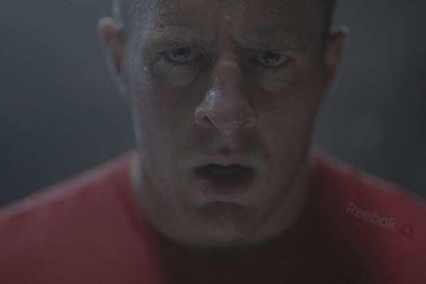 J.J. Watt in his latest Reebok ad campaign.