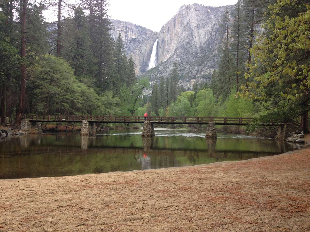 Upper Yosemite Falls as seen from the Valley Floor on May 1st, 2016.