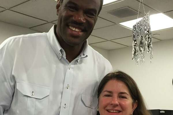 Former Spur, David Robinson, showed up to Judge Laura Parker's court for jury duty on May 23, 2016, she said in a Facebook post.