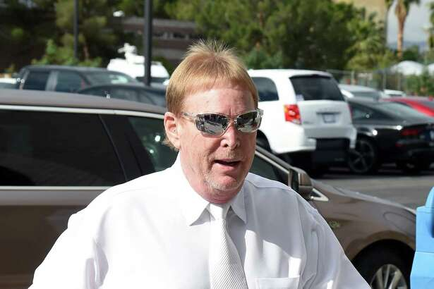LAS VEGAS, NV - APRIL 28:  Oakland Raiders owner Mark Davis arrives at a Southern Nevada Tourism Infrastructure Committee meeting at UNLV on April 28, 2016 in Las Vegas, Nevada. Davis told the committee he is willing to spend USD 500,000 as part of a deal to move the team to Las Vegas if a proposed USD 1.3 billion, 65,000-seat domed stadium is built by casino magnate Sheldon Adelson's Las Vegas Sands Corp. and real estate agency Majestic Realty, possibly on a vacant 42-acre lot a few blocks east of the Las Vegas Strip recently purchased by UNLV.