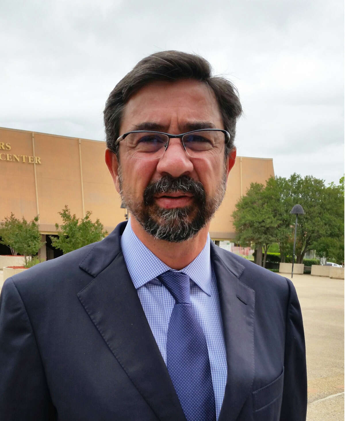 Alberto Berlanga Bolado, former secretary of Transportation for Tamaulipas from 2005 to 2010, speaks Wednesday, April 22, 2015 outside the federal courthouse in San Antonio after a judge allowed him to try to sell a 46-acre tract of premium land in La Cantera that the feds claim was acquired with laundered money tied to ex-Tamaulipas governor Tomas Yarrington.
