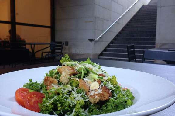 Kale salad at MFA Cafe at Museum of Fine Arts, Houston