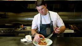 Chef Graham Laborde plates a pan-seared Gulf snapper at Bernadine's.