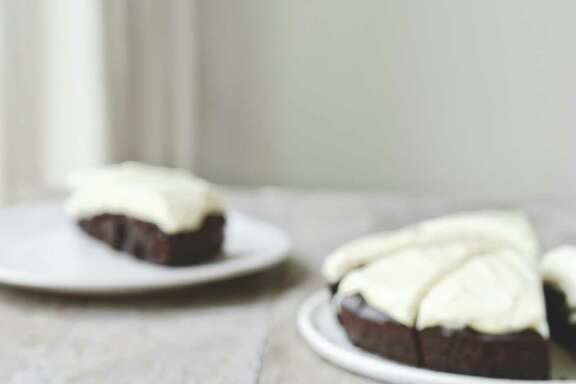 "Guinness Dates Chocolate Cake is featured in ""Big Flavors From a Small Kitchen."""