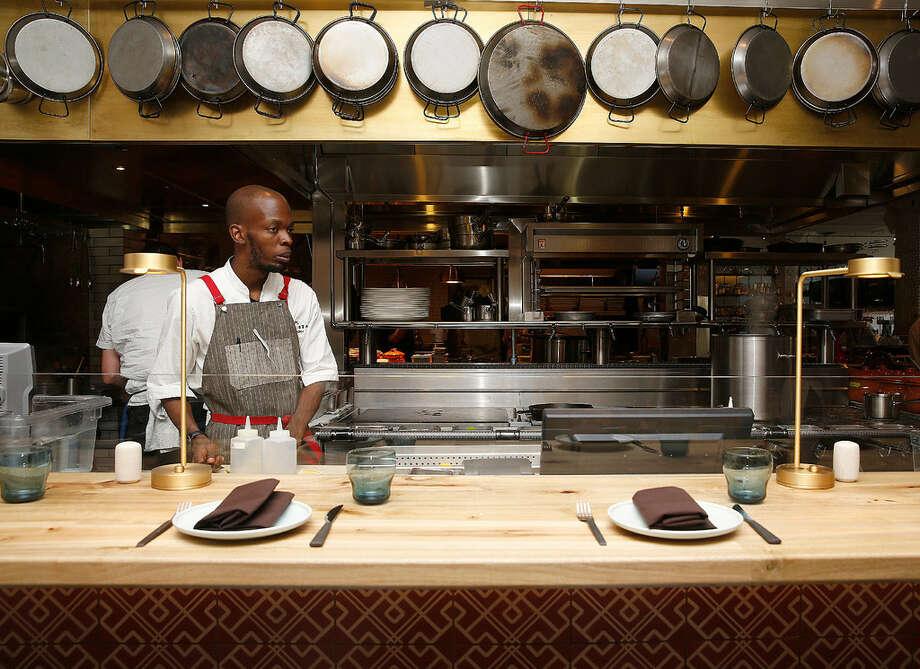 The kitchen at Bellota, now open in SoMa. Photo: Liz Hafalia
