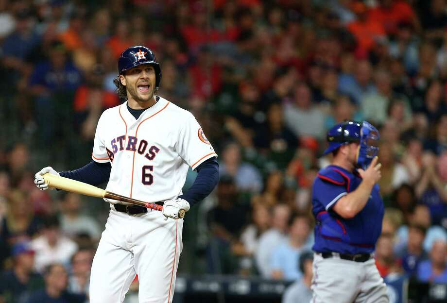 Jake Marisnick has struck out in more than a third of his plate appearances this season. Photo: Jon Shapley, Staff / © 2015  Houston Chronicle