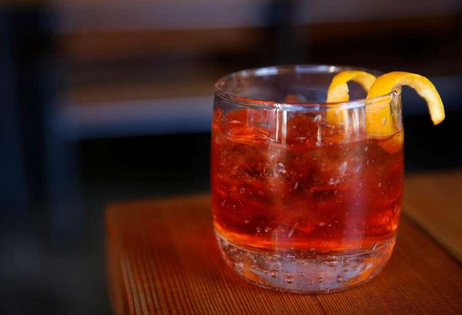 "A Spritz ""Cocktail di Vino"" at Ca'Momi. Photo: Leah Millis, The Chronicle"