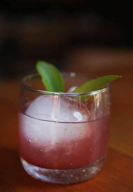 "An Amore Amaro ""cocktail di vino"" at Ca'Momi restaurant May 17, 2016 in Napa, Calif. Photo: Leah Millis, The Chronicle"