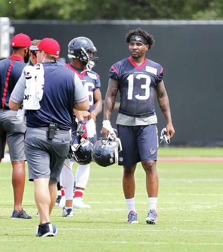Third-round draft pick Braxton Miller (13) is trying to adjust to the rigors of pro football. Photo: Steve Gonzales / © 2016 Houston Chronicle