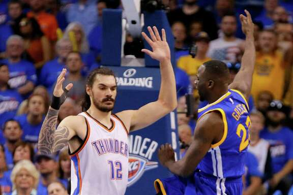 The Warriors' Draymond Green received a flagrant 1 foul for kicking Steven Adams, but the NBA says it should have been a flagrant 2 and ejection.