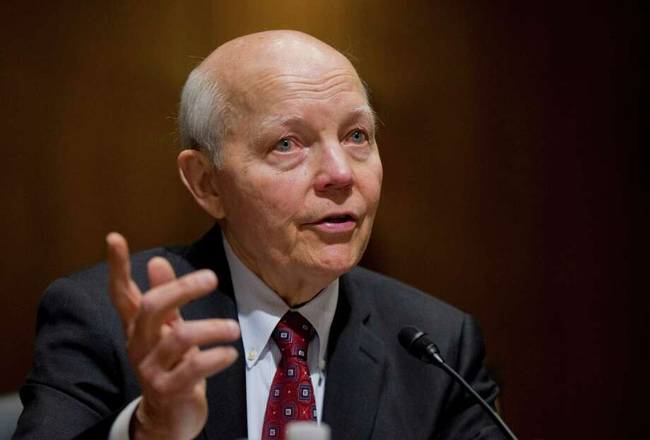 Internal Revenue Service Com-missioner John Koskinen testifies earlier this year in Washington. The IRS leader says he won't testify Tuesday.  Photo: Manuel Balce Ceneta, STF / Copyright 2016 The Associated Press. All rights reserved. This material may not be published, broadcast, rewritten or redistribu