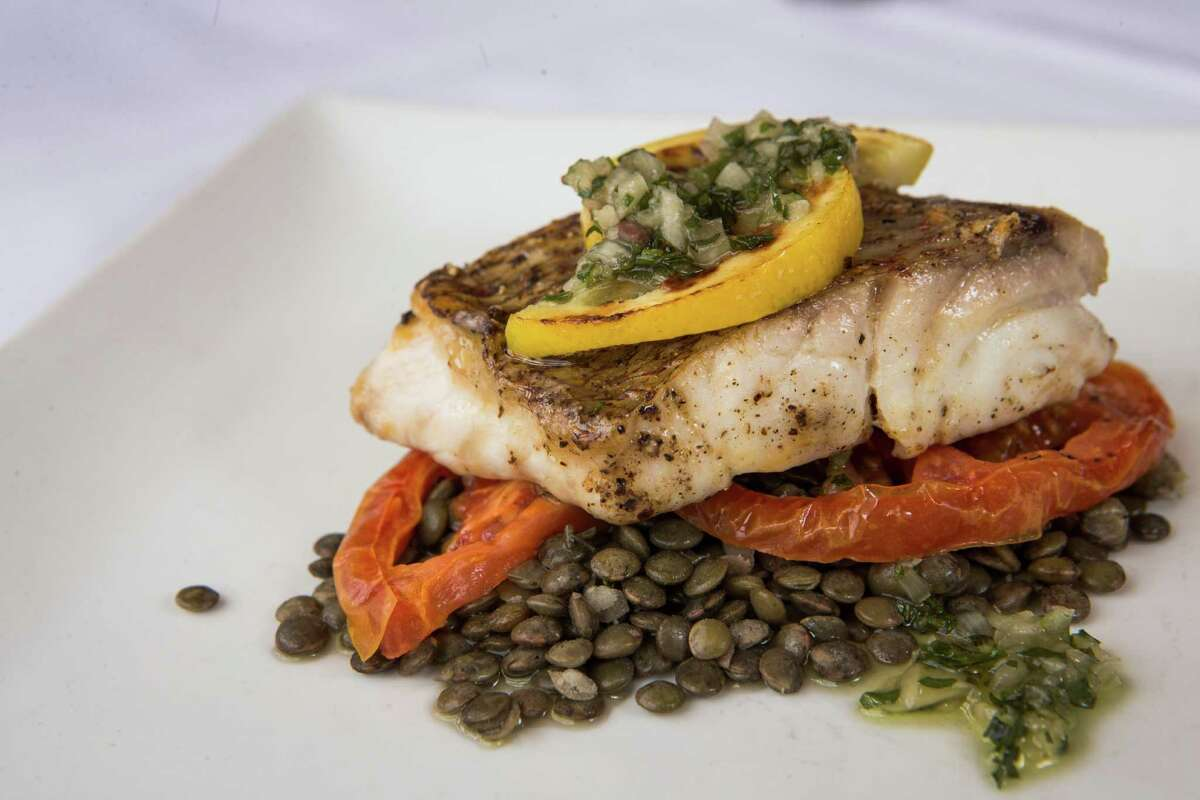 A plate of red snapper is shown at Trevisio Restaurant in the Texas Medical Center.