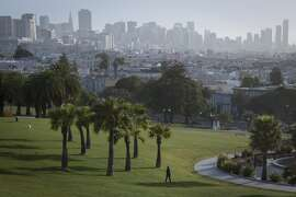 Dolores Park is seen with downtown San Francisco in the background on Friday, April 29, 2016 in San Francisco, Calif.