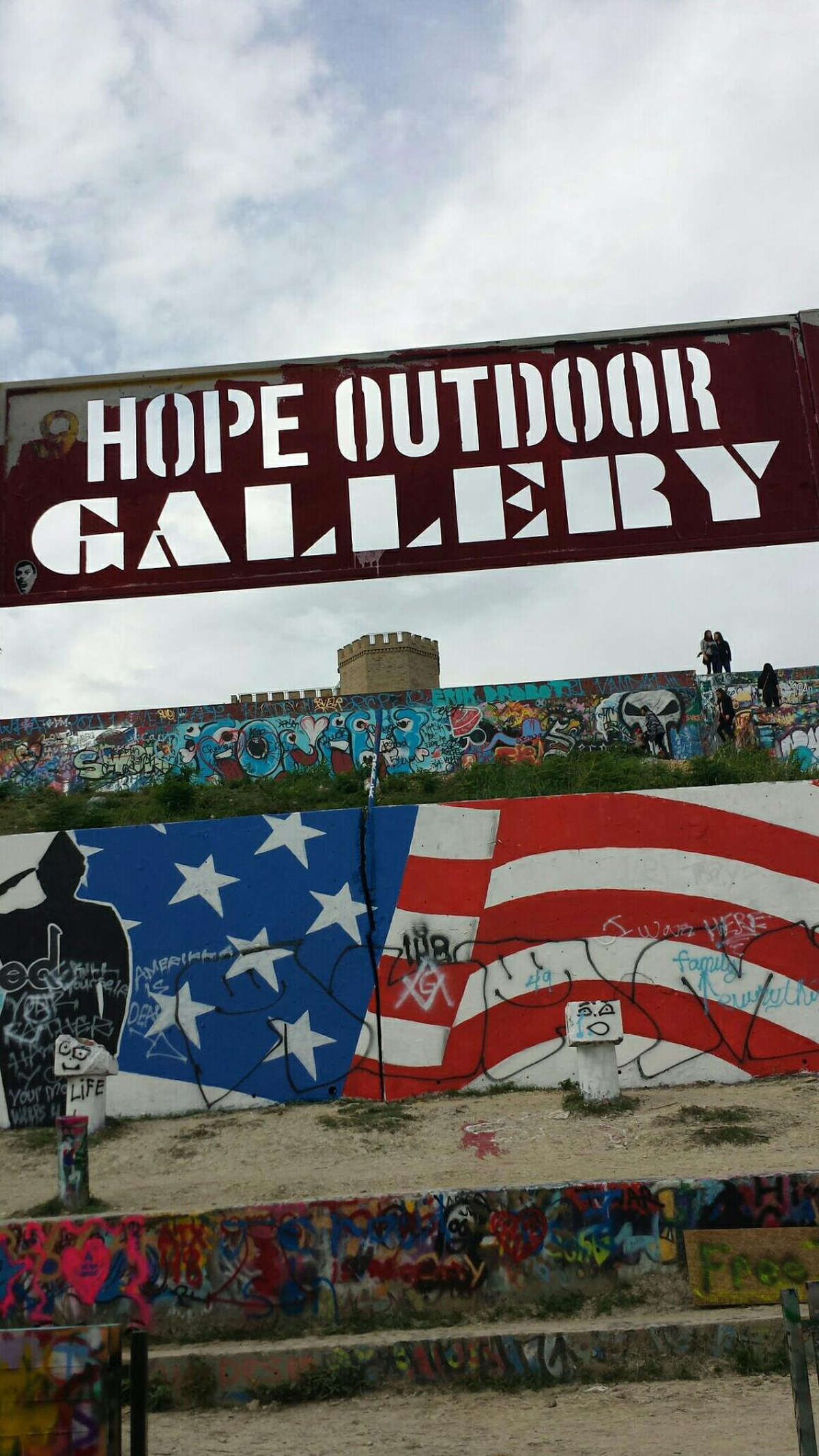 The HOPE Outdoor Gallery and graffiti park in October 2015.