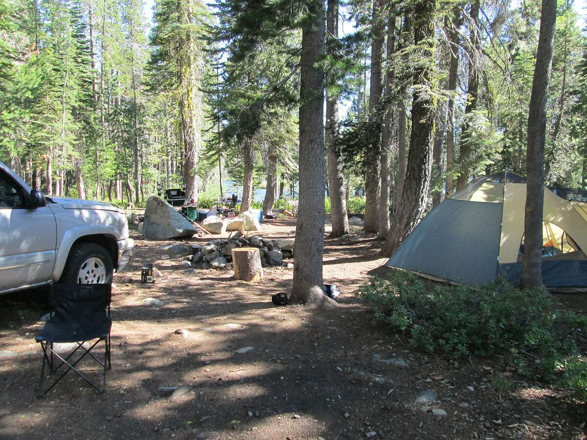 In advance of Memorial Day Weekend, Plumas National Forest opened the campground last week at Goose Lake, one of many sites in the Lakes Basin Recreation Area on the west flank of the Sierra Nevada