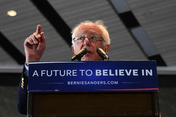 Democratic candidate Bernie Sanders speaks during a rally in Anaheim, California on May 24, 2016, ahead of the June 7 California vote. / AFP PHOTO / FREDERIC J. BROWNFREDERIC J. BROWN/AFP/Getty Images
